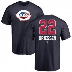 Youth Dan Driessen Cincinnati Reds Name and Number Banner Wave T-Shirt - Navy