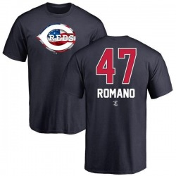 Youth Sal Romano Cincinnati Reds Name and Number Banner Wave T-Shirt - Navy